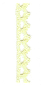 Woven Pale Yellow Lace Trim with Scalloped Edges 9mm