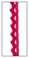 Woven Red Lace Trim with Scalloped Edges 9mm