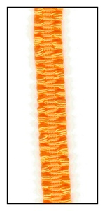 Hot Orange Stretch Braid Trim 8mm