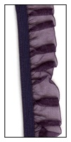 Eggplant Organdy Ruffle on Elastic 19mm