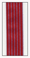 Purple Pinstripe on Red Taffeta Ribbon 15mm
