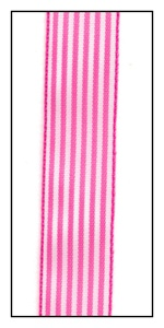 Hot Pink Saint Malo Stripe 15mm