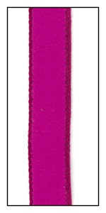 Raspberry Ultra Suede-Like Ribbon with Satin Edge 12mm