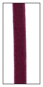 Bordeaux French Velvet Ribbon 9mm