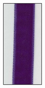Purple French Velvet Ribbon 16mm