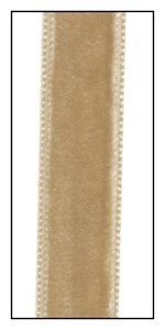 Tan French Velvet Ribbon 16mm