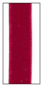 Scarlet French Velvet Ribbon 16mm