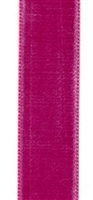 Fuchsia French Velvet Ribbon 23mm