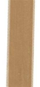 Tan French Velvet Ribbon 23mm