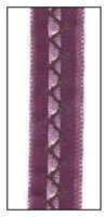 Grape French Velvet with Lavender Satin and Purple Stitching 16mm