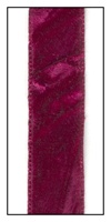 Cranberry French Crushed Velvet Ribbon 16mm