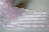 Extra Wide Cherry Blossom Striped Satin Ribbon 125mm