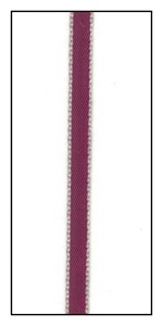 Pink Edged Plum Faveur Ribbon 5mm