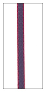 Red Edged Navy Blue Faveur Ribbon 5mm