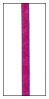 Purple Edged Fuchsia Faveur Ribbon 5mm