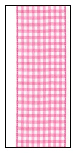 Pink Gingham Ribbon 38mm
