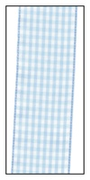 Baby Blue Gingham Ribbon 38mm