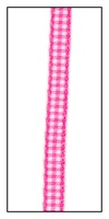 Mini Hot Pink Gingham Ribbon 5mm