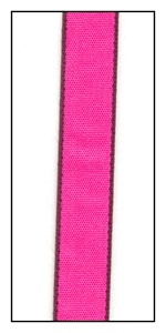 Purple Edged Hot Pink Faveur Ribbon 10mm