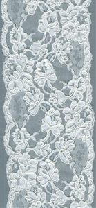 Super Wide Scalloped White Floral Lace 120mm