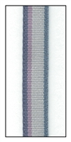 Blue on Gray Stripe French Cotton Ribbon