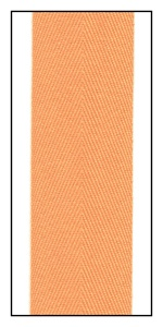 Carrot 32mm Herringbone Ribbon