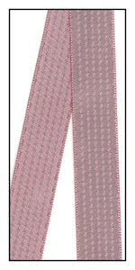 Two-Toned Mauve Satin Stripe Ribbon 15mm