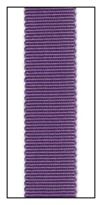 Ultra Violet Petersham Grosgrain Ribbon 15mm