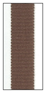 Brown Petersham Grosgrain Ribbon 15mm