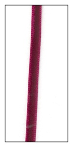 Garnet Velvet Ribbon 4mm