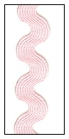 Pale Pink Medium Rayon Ric-Rac 15mm