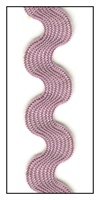 Mauve Medium Rayon Ric-Rac 15mm