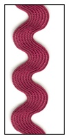 Crimson Medium Rayon Ric-Rac 15mm