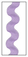 Heliotrope Medium Rayon Ric-Rac 15mm