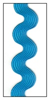 Azure Blue Medium Rayon Ric-Rac 15mm