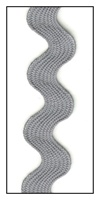 Steel Gray 17mm Ric-Rac