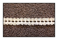 Woven White Lace Trim with Double Scalloped Edges 20mm