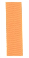 Fluorescent Orange 20mm Herringbone Ribbon