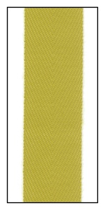Lime 20mm Herringbone Ribbon