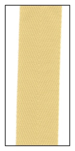Blonde 20mm Herringbone Ribbon