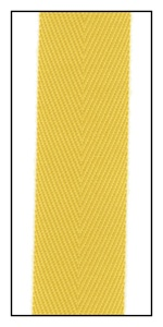 Cadmium 20mm Herringbone Ribbon