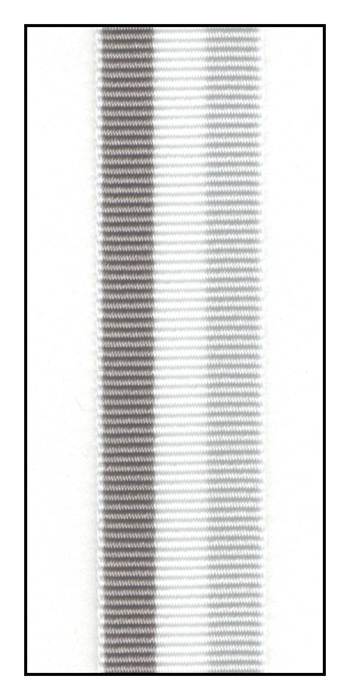 Grosgrain Gray Striped Grosgrain Ribbon 15mm The Ribbon Jar
