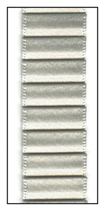 Silver Sage Pleated Satin Ribbon 19mm