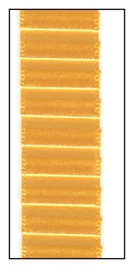 Marigold Pleated Satin Ribbon 19mm