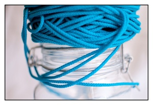 Aqua Marine Spindle Cord 3mm
