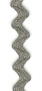 Metallic Steel Gray 12mm Ric-Rac