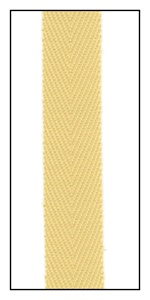 Blonde 12mm Herringbone Ribbon