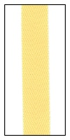 Lemon Tart 12mm Herringbone Ribbon