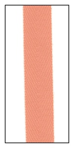 Peach 12mm Herringbone Ribbon