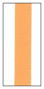 Fluorescent Orange 12mm Herringbone Ribbon